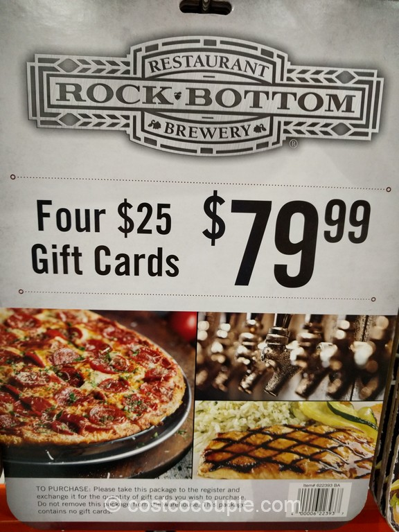 Gift Card Rock Bottom Brewery Costco 1