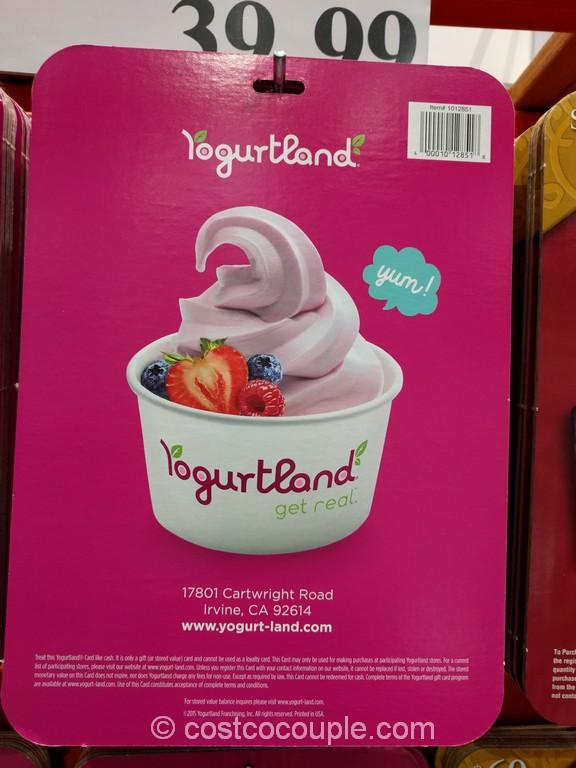 Gift Card Yogurtland Costco 1