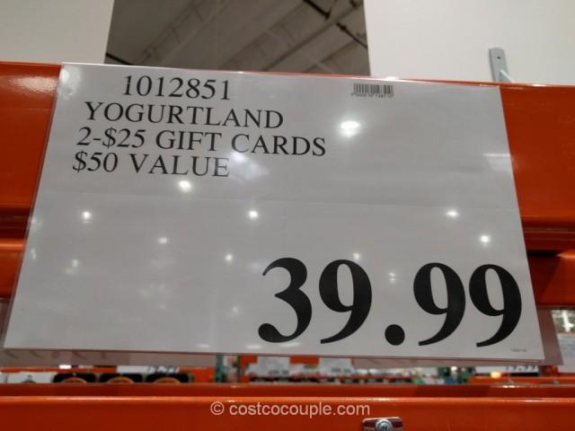 Gift Card Yogurtland Costco 4