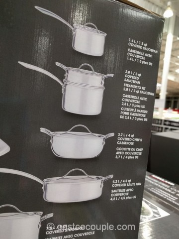 Kirkland Signature 13-Piece Stainless Steel Tri-Ply Clad Cookware Set Costco 5