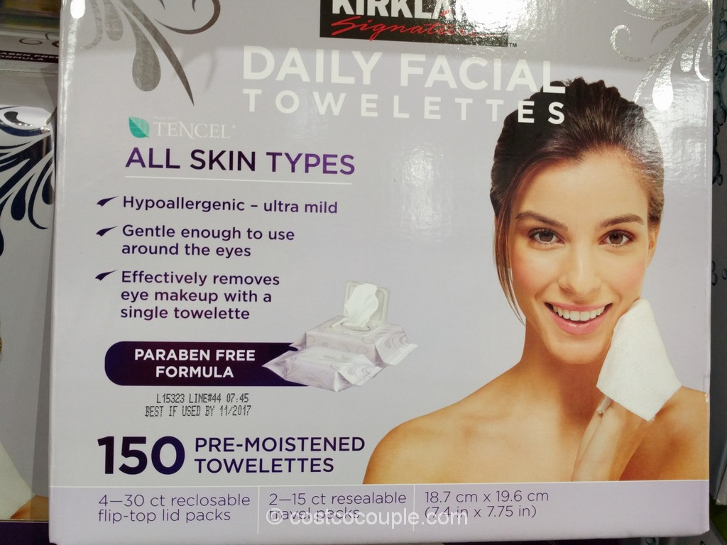 Kirkland Signature Daily Facial Cleansing Towelettes Costco 2