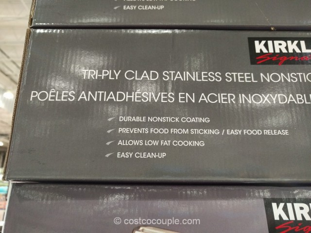 Kirkland Signature Stainless Steel Tri-Ply Clad Skillets Costco 3