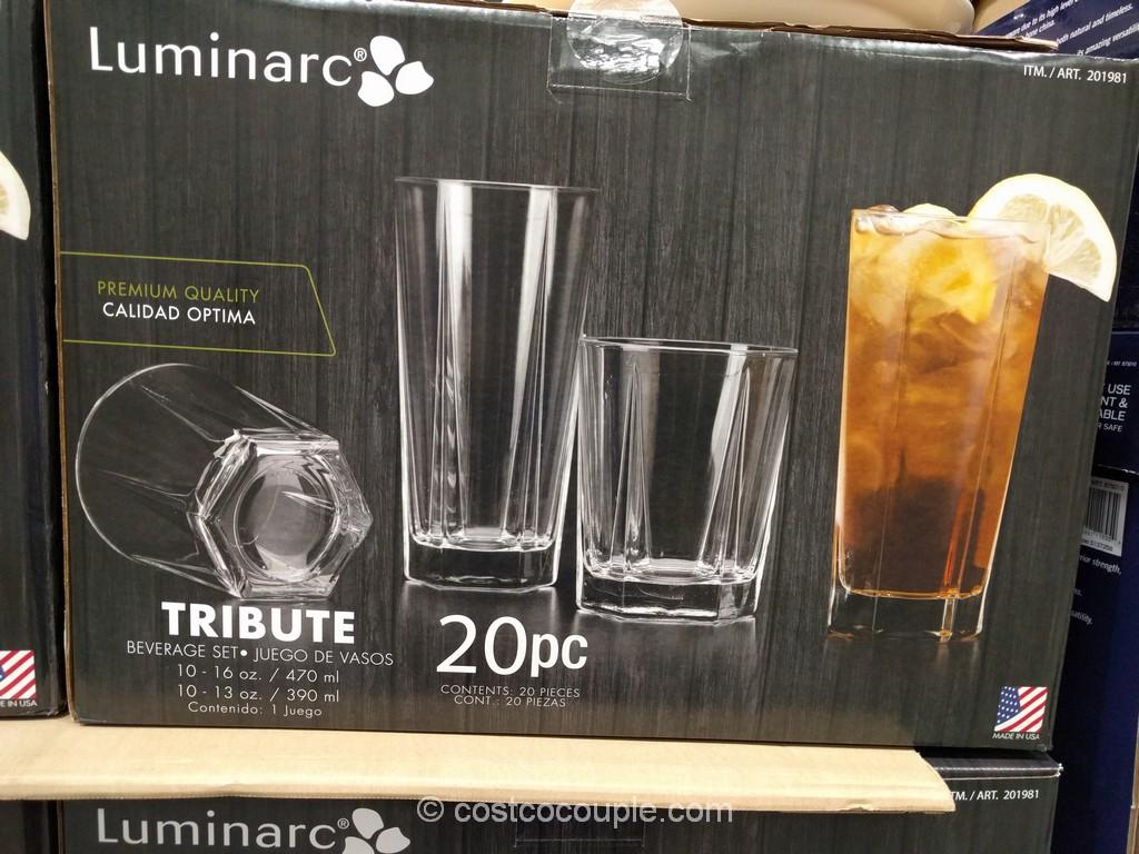 Luminarc Tribute Drinkware Set Costco 2