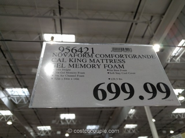 Novaform ComfortGrande Gel Memory Foam Mattress Costco 1