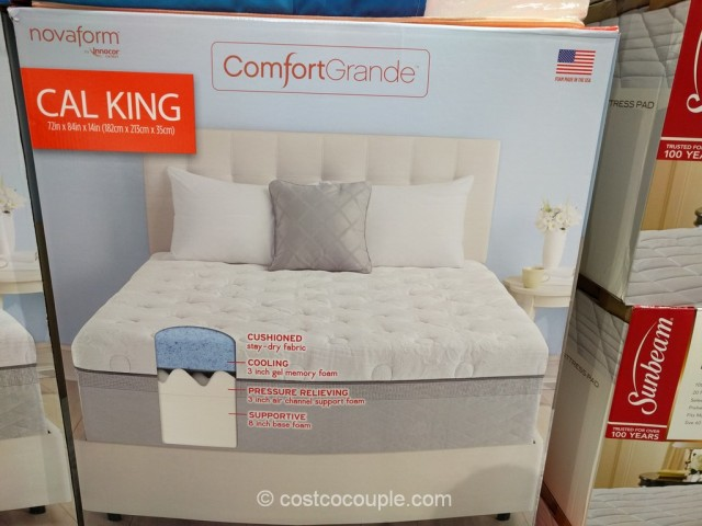 Novaform ComfortGrande Gel Memory Foam Mattress Costco 3