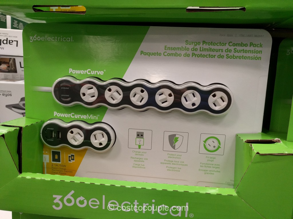PowerCurve Surge Protector Combo Pack Costco 2