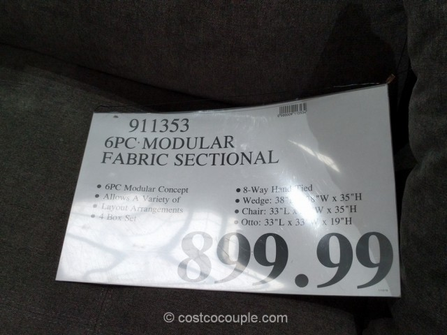 6-Piece Modular Fabric Sectional Costco 1