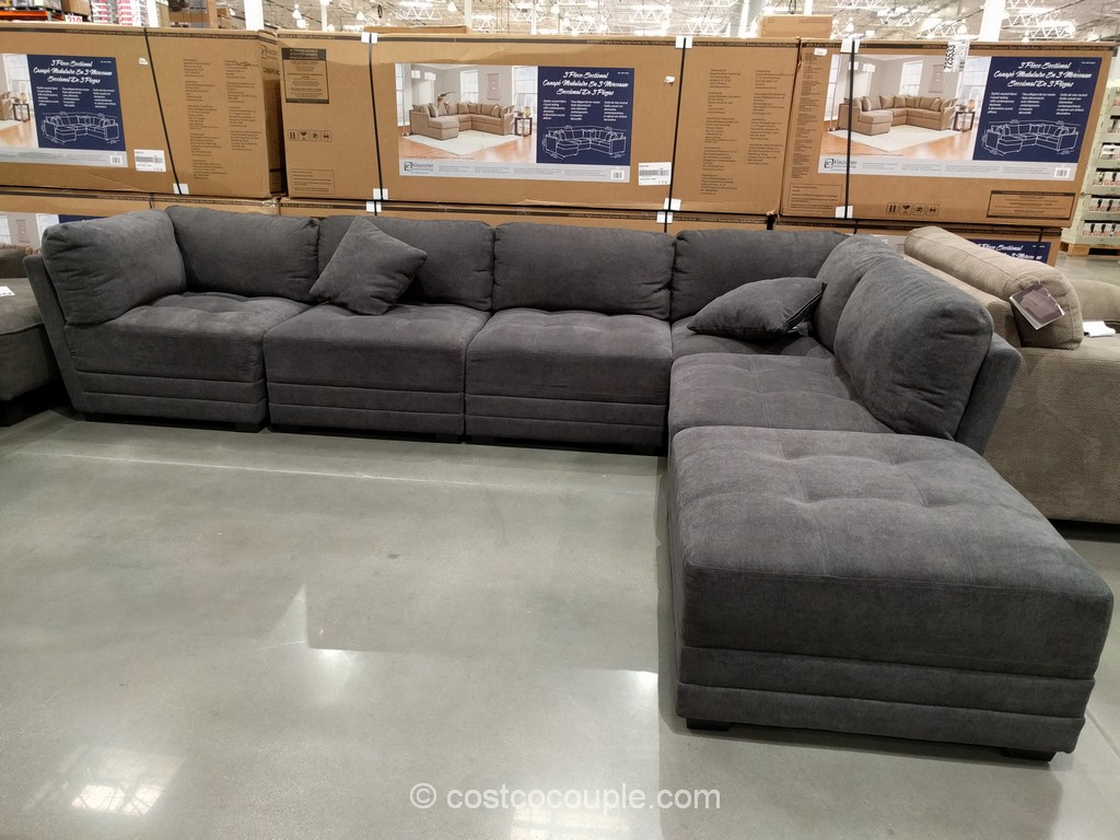 6-Piece Modular Fabric Sectional Costco 2