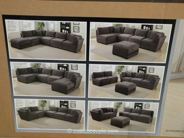 6-Piece Modular Fabric Sectional Costco 5