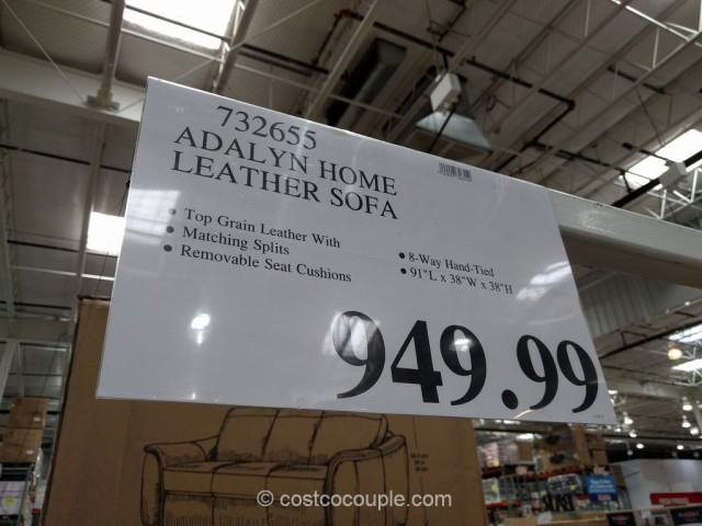 Adalyn Home Leather Sofa Costco 1