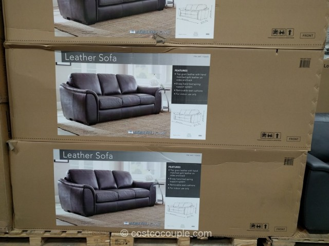 Adalyn Home Leather Sofa Costco 4