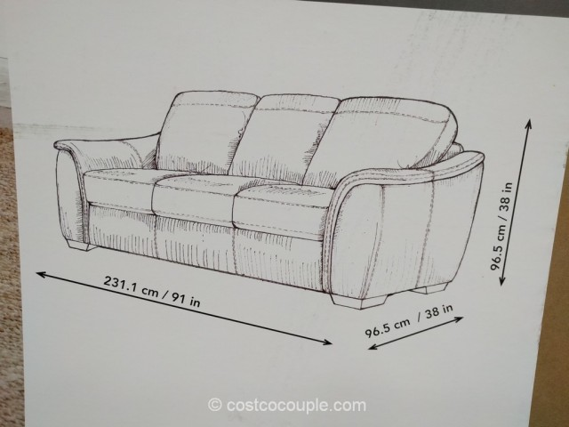 Adalyn Home Leather Sofa Costco 6