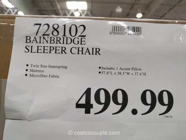 Bainbridge Sleeper Chair Costco 1