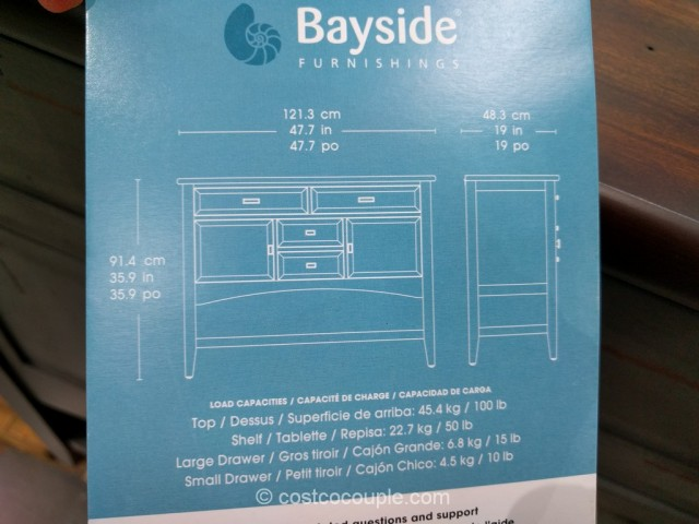 Bayside Furnishings Accent Cabinet Costco 5
