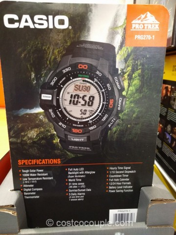 Casio Protrek Solar Power Mens Digital Watch