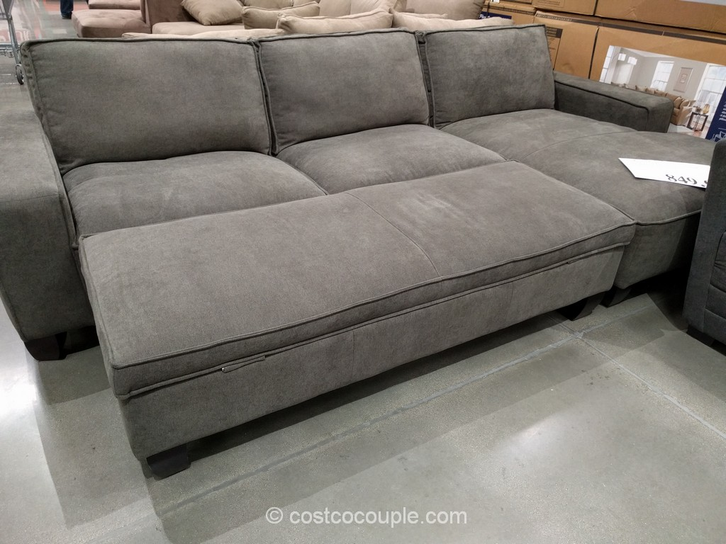 Fabric Chaise Sofa With Storage Ottoman Costco 2