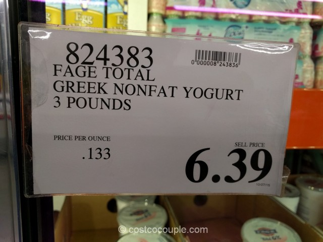 Fage Total Nonfat Greek Yogurt Costco 1