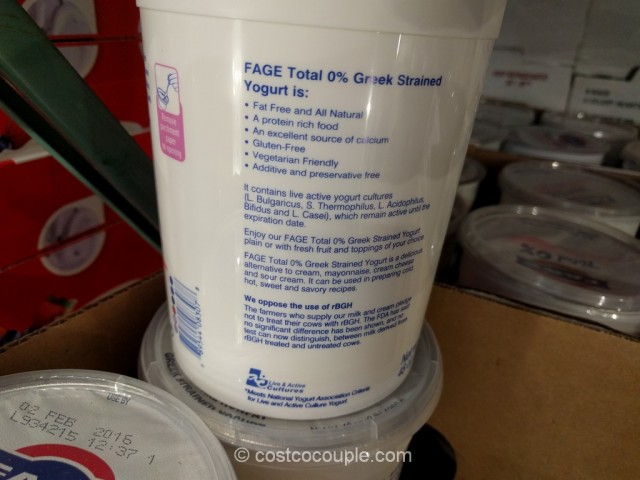 Fage Total Nonfat Greek Yogurt Costco 3