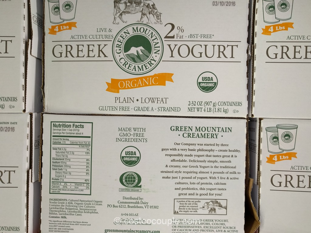 Green Mountain Creamery Organic Greek Yogurt Costco 1