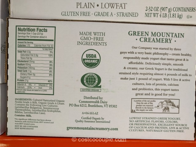 Green Mountain Creamery Organic Greek Yogurt Costco 2