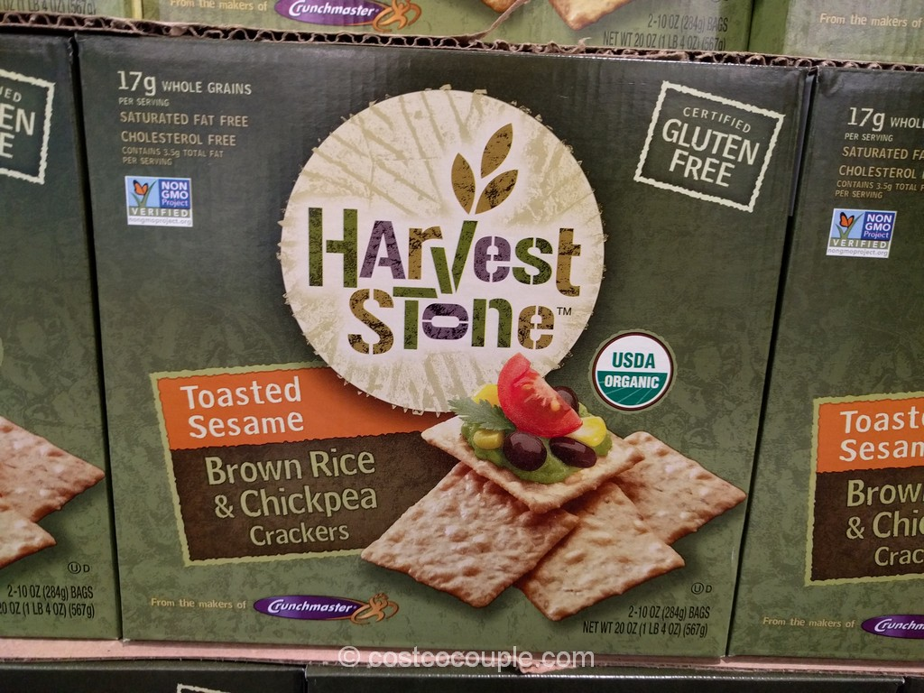 Harvest Stone Organic Brown Rice and Chickpean Crackers Costco 2