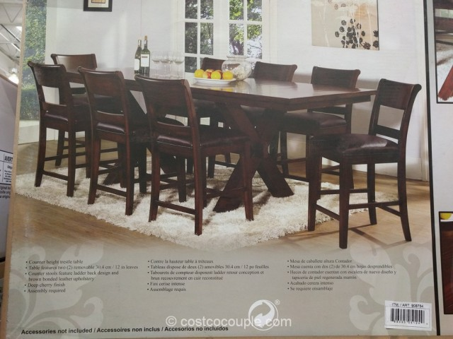 Hillsdale furniture 9 piece counter height dining set for 11 piece dining table set