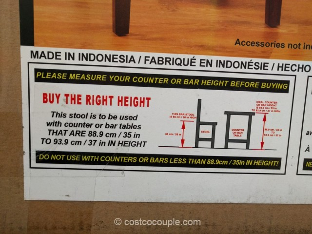 Hillsdale Furniture Non-Swivel Counter Stools Costco 6