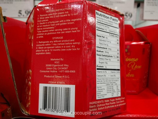 Joy Luck Palace Chinese New Year Glutinous Rice Cakes Costco 4