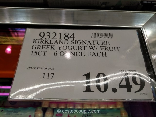 Kirkland Signature Greek Yogurt With Fruit Costco 1