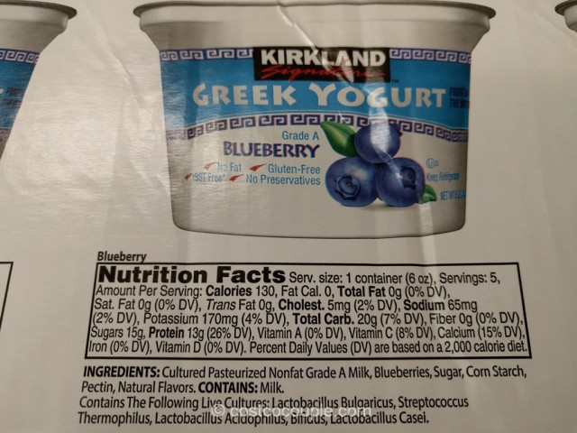 Kirkland Signature Greek Yogurt With Fruit Costco 4