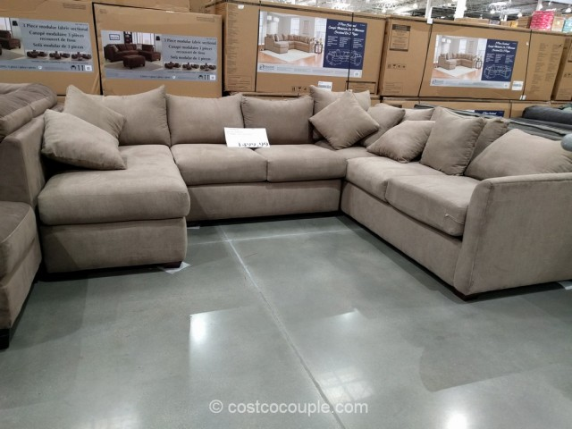 Klaussner 3 Piece Fabric Sectional
