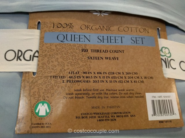 Laurel Crest Organic Queen Sheet Set