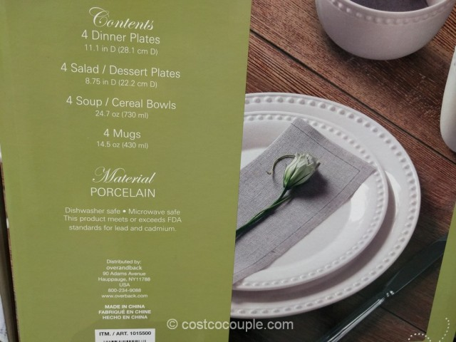 Over & Back Pearls Dinnerware Set Costco 3