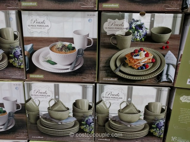 Over & Back Pearls Dinnerware Set Costco 4
