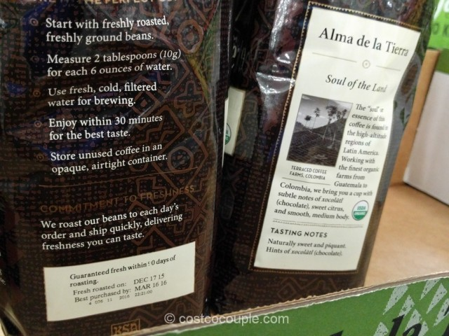 Peets Coffee Alma de la Tierra Organic Blend Costco 3