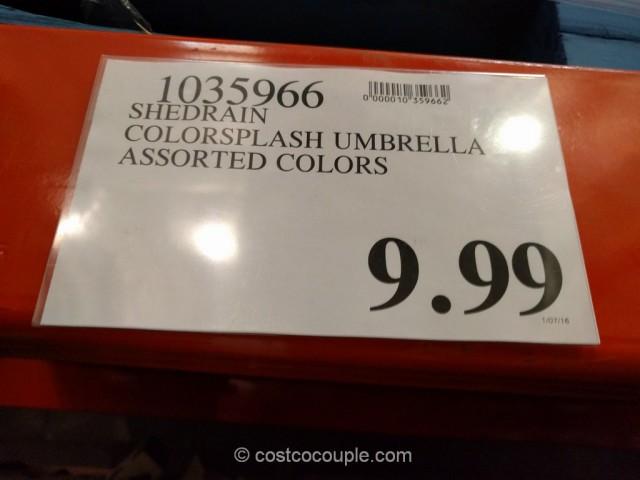 Shedrain Colorsplash Umbrella Costco 1