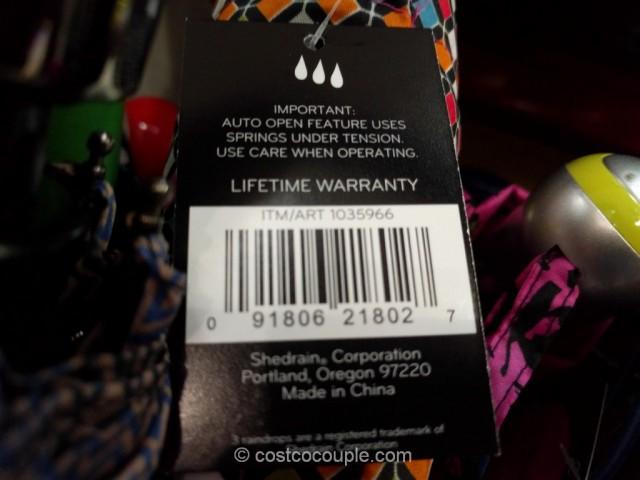 Shedrain Colorsplash Umbrella Costco 4