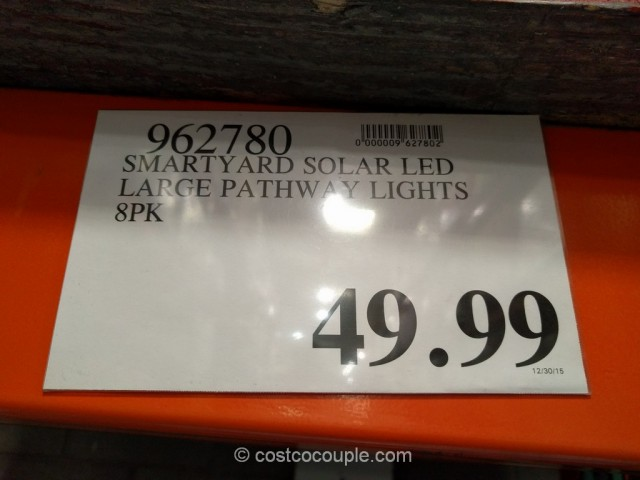 SmartYard LED Solar Pathway Lights Costco 1