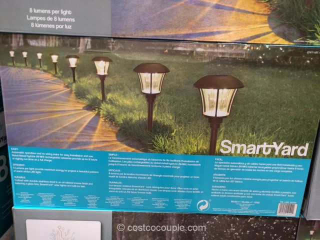 SmartYard LED Solar Pathway Lights Costco 3