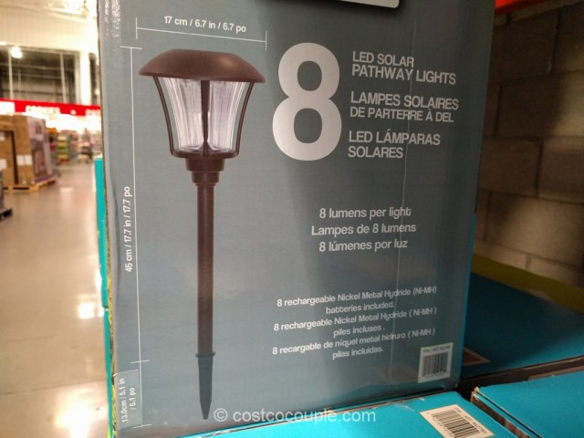 SmartYard LED Solar Pathway Lights Costco 5