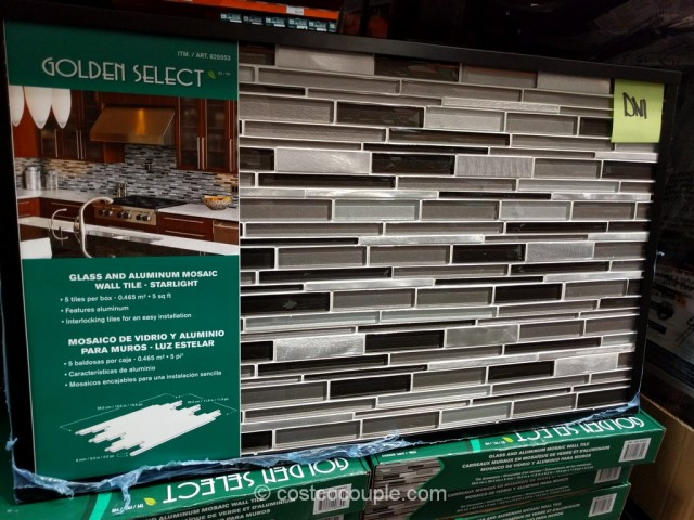 Starlight Glass and Aluminum Mosaic Wall Tile Set Costco 2