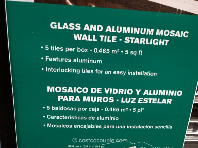 Starlight Glass and Aluminum Mosaic Wall Tile Set Costco 3