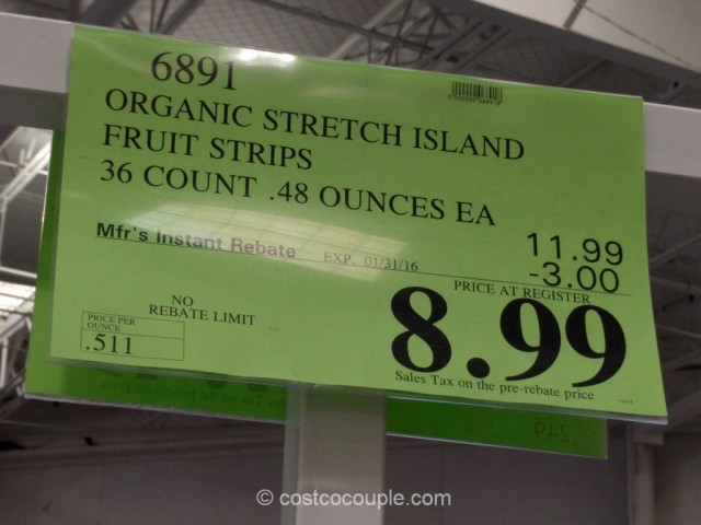 Stretch Island Organic Fruit Strips Costco 1