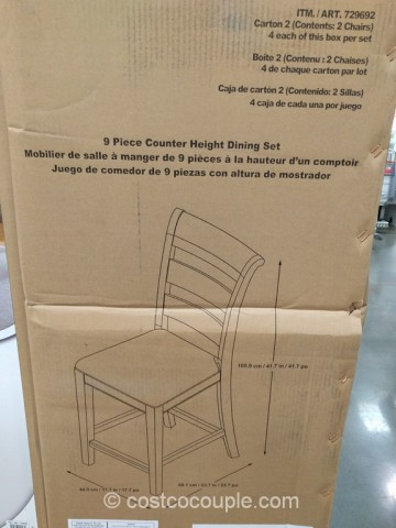 Universal Furniture 9-Piece Counter Height Dining Set Costco 10