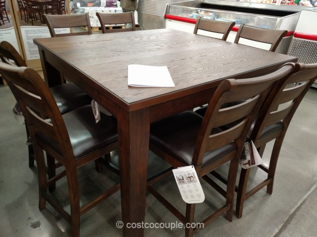 Universal Furniture 9 Piece Counter Height Dining Set Costco 2