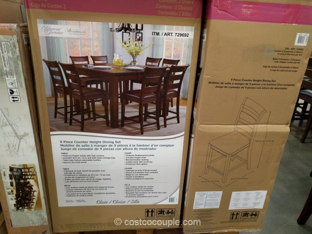 Universal Furniture 9 Piece Counter Height Dining Set