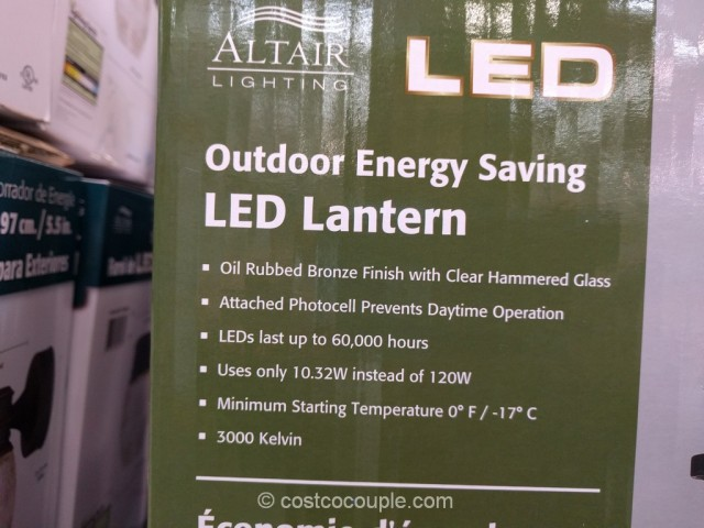 ... Altair Lighting Outdoor LED Lantern Costco 5 ... - Altair Lighting Outdoor LED Lantern