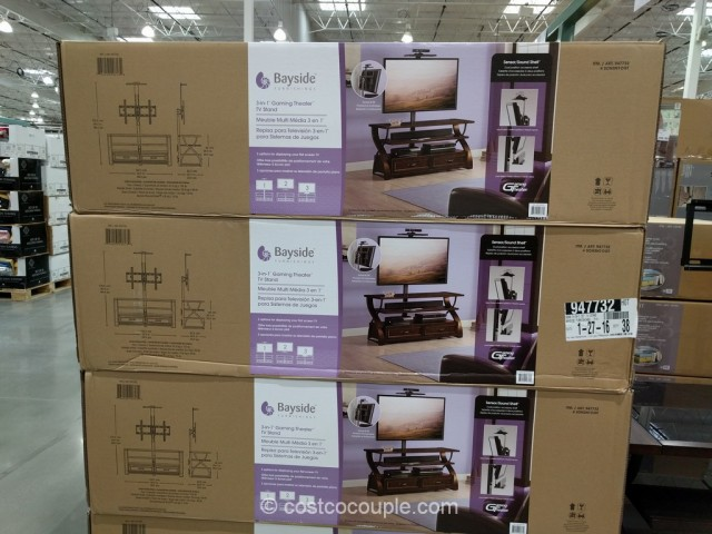 Bayside Furnishings 3-in-1 TV Stand Costco 4