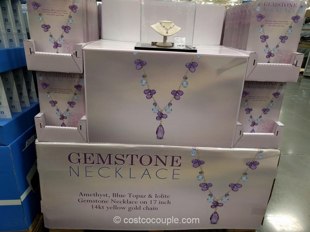 Gemstone Necklace Costco 1