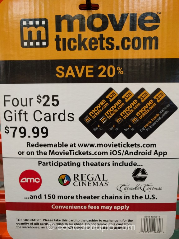 Gift Card Movietickets com Costco 3